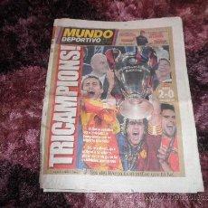Coleccionismo deportivo: DIARIO MUNDO DEPORTIVO Nº 28041 - 28 DE MAYO DE 2009 - 48 PÁGINAS -. Lote 36097074