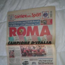 Coleccionismo deportivo: EDICION HISTORICA CORRIERE SPORT ROMA CAMPEON. Lote 36399139