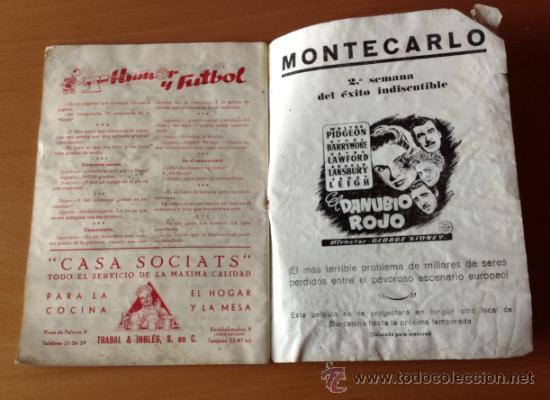 Coleccionismo deportivo: BOLETIN C.F. BARCELONA BASORA BARCELONA -CELTA DE VIGO 16/4/1950 - Foto 3 - 36526880