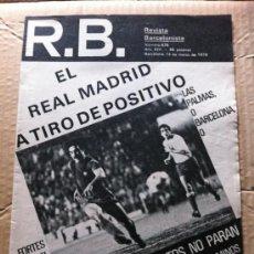 Coleccionismo deportivo: REVISTA BARCELONISTA R.B. Nº 676 1978. Lote 37006329