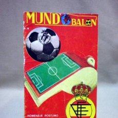 Coleccionismo deportivo: REVISTA, MUNDOBALON, MUNDO BALON, HOMENAJE A ARBITROS, PIERA Y LLORIA, VALENCIA, 1975, Nº 10. Lote 37091960