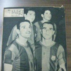 Coleccionismo deportivo: REVISTA BARÇA Nº 80.27-6-1957. EN PORTADA VILLAVERDE, EVARISTO,EULOGIO Y HERMES.. Lote 37064123
