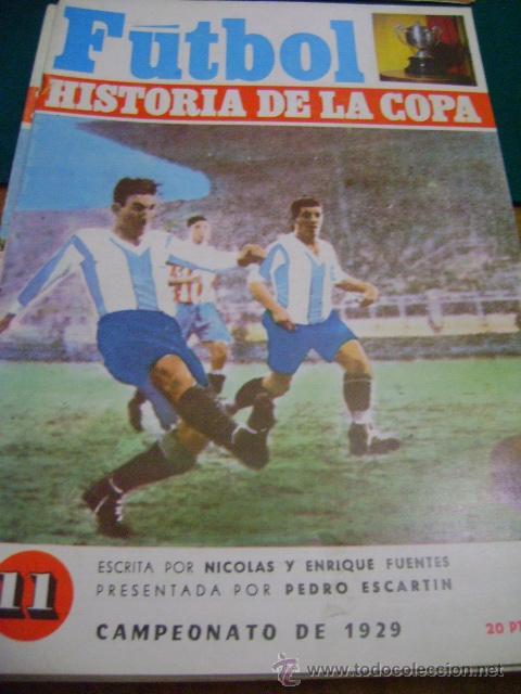 FÚTBOL HISTORIA DE LA COPA Nº 11, 1929 (ZAMORA) (Coleccionismo Deportivo - Revistas y Periódicos - otros Fútbol)