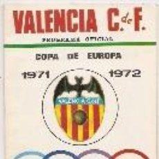 Collezionismo sportivo: COPA DE EUROPA 1971. PROGRAMA DEL PARTIDO VALENCIA LUXEMBURGO. Lote 61238618