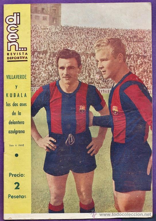 REVISTA - DICEN ... - Nº 160 - VILLAVERDE Y KUBALA - FC BARCELONA / BARÇA - AÑO 1955 - RD27 (Coleccionismo Deportivo - Revistas y Periódicos - otros Fútbol)