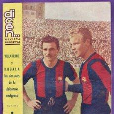 Coleccionismo deportivo: REVISTA - DICEN ... - Nº 160 - VILLAVERDE Y KUBALA - FC BARCELONA / BARÇA - AÑO 1955 - RD27. Lote 37357788