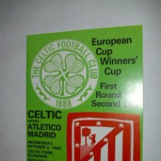 Coleccionismo deportivo: PROGRAMA OFICIAL CELTIC GLASGOW VS ATLETICO MADRID RECOPA 85-86 - CAJA ATM1. Lote 37428415