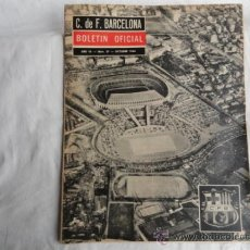 Coleccionismo deportivo: BOLETÍN OFICIAL DEL F.C.B. AÑO III. Nº 27. OCTUBRE 1964.. Lote 37448912