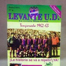 Coleccionismo deportivo: REVISTA BLAU GRANA. Nº 0. LEVANTE U.D.. JUNIO 1995. POSTER CENTRAL CAMPEON DE LIGA. 2ª. Lote 37564435