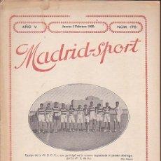 Coleccionismo deportivo: REVISTA DEPORTIVA MADRID-SPORT 5-2-20. Lote 37565683