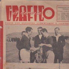 Coleccionismo deportivo: REVISTA DEPORTIVA EL DEPORTE GRAFICO 13-3-1945. Lote 37569018