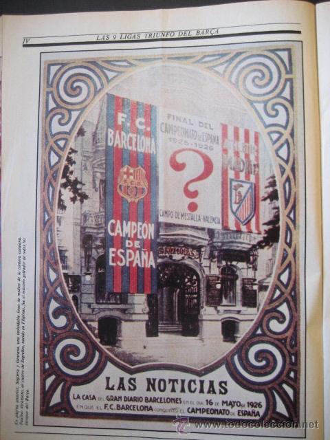 Coleccionismo deportivo: El Correo Catalan 25 de Julio de 1982. Las 9 Ligas del Futbol F.C. BARCELONA. BARÇA - Foto 4 - 37660569