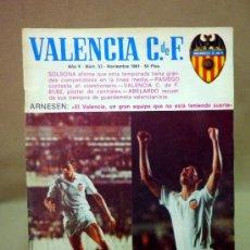 Coleccionismo deportivo: REVISTA DE FUTBOL, VALENCIA CF, Nº 53, NOVIEMBRE DE 1981, POSTER CENTRAL VALENCIA CF. Lote 38202191