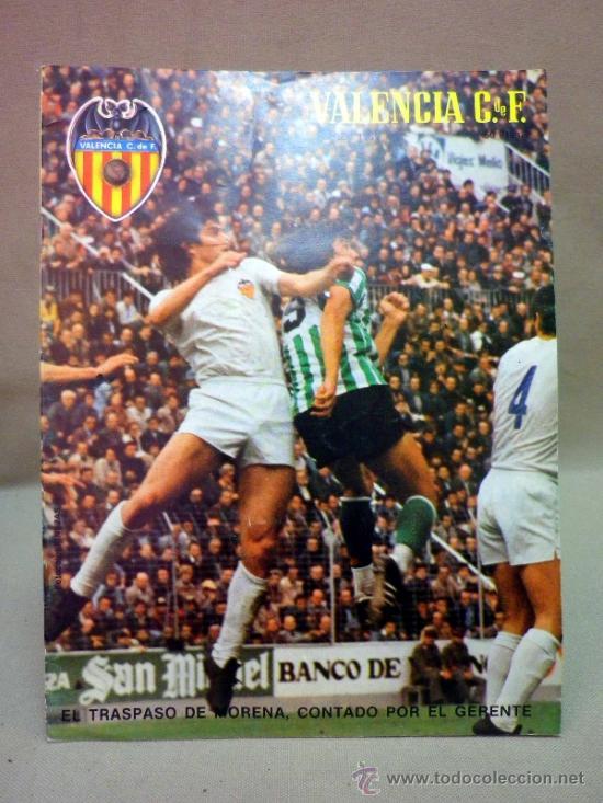 REVISTA DE FUTBOL, VALENCIA CF, Nº 45, MARZO DE 1981, TRASPASO DE MORENA (Coleccionismo Deportivo - Revistas y Periódicos - otros Fútbol)