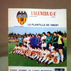 Coleccionismo deportivo: REVISTA DE FUTBOL, VALENCIA CF, Nº 38, AGOSTO DE 1980, LA PLANTILLA DEL 80/81. Lote 38203195