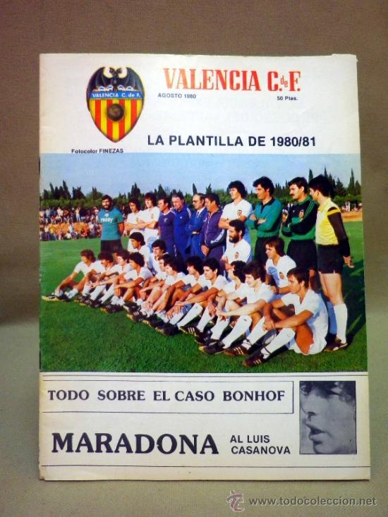Coleccionismo deportivo: REVISTA DE FUTBOL, VALENCIA CF, Nº 38, AGOSTO DE 1980, LA PLANTILLA DEL 80/81 - Foto 5 - 38203195