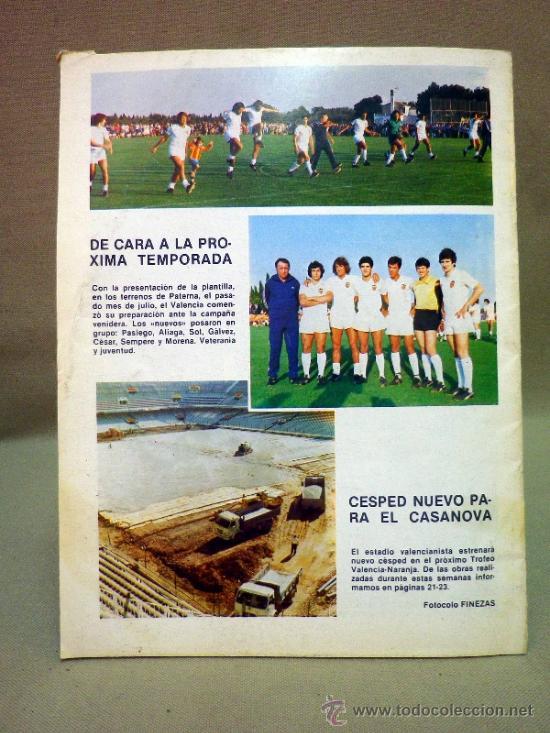 Coleccionismo deportivo: REVISTA DE FUTBOL, VALENCIA CF, Nº 38, AGOSTO DE 1980, LA PLANTILLA DEL 80/81 - Foto 4 - 38203195