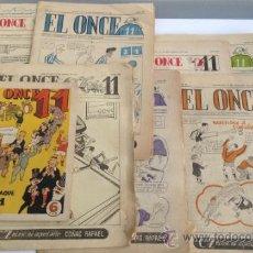 Coleccionismo deportivo: LOTE DE REVISTAS EL ONCE11 Y ALMANAQUE 1951. Lote 38233893