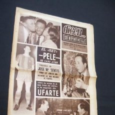 Colecionismo desportivo: DICEN - EL REY PELE SE CASO AYER - Nº 327 - 22 FEBRERO 1966 - . Lote 38499711
