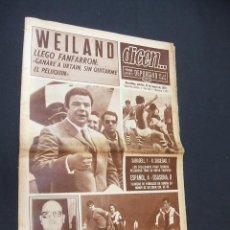 Collezionismo sportivo: DICEN - WEILAND, GANARE A URTAIN SIN QUITARME EL PELUQUIN - Nº 1602 - 31 MARZO 1970 - . Lote 38531313