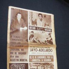 Coleccionismo deportivo: DICEN - SADURNI NO IRA AL MADRID, DICE AGUSTIN MONTAL - Nº 1603 - 1 ABRIL 1970 - . Lote 38531344