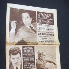 Coleccionismo deportivo: DICEN - PABLO PORTA ENJUICIA LA ACTUALIDAD AZULGRANA - Nº 48 - 31 MARZO 1965 - . Lote 38532518
