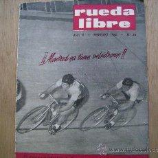 Coleccionismo deportivo: RUEDA LIBRE Nº36-1960.CICLISM0-VUELTA CICLISTA A ESPAÑA,1960-VUELTA A LEVANTE-MADRID YA TIENE VELODR. Lote 39023168