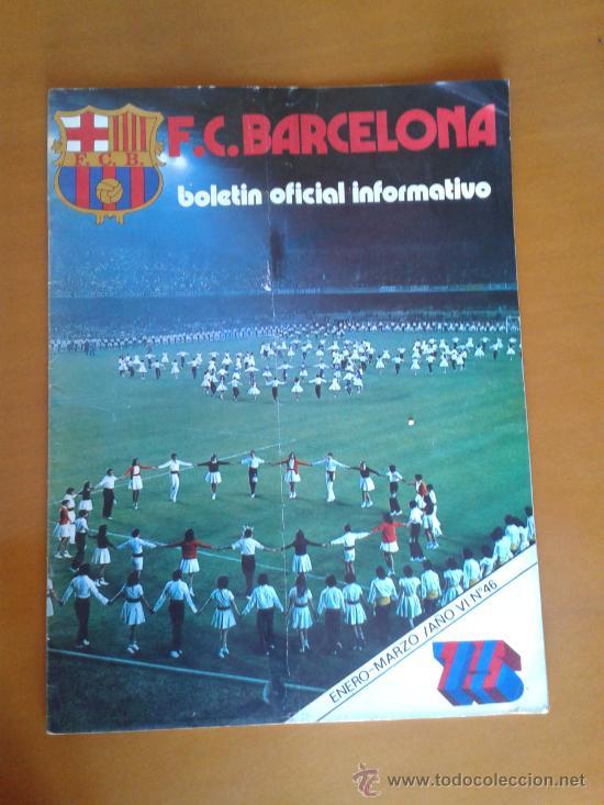 BOLETÍN OFICIAL BARÇA FÚTBOL CLUB BARCELONA NÚM 46 ENERO 1975 1º NUEVA ETAPA LOGO 75º ANIVERSARIO (Coleccionismo Deportivo - Revistas y Periódicos - otros Fútbol)