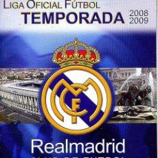 Coleccionismo deportivo: PROGRAMA FUTBOL PARTIDO REAL MADRID MALAGA 2008-09. Lote 39510864