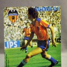 Coleccionismo deportivo: REVISTA DE FUTBOL, VALENCIA CF, Nº 42, DICIEMBRE DE 1980, RECUERDOS SUPERCOPA. Lote 40255040