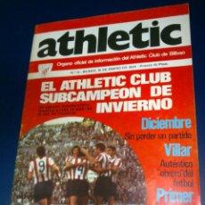 Coleccionismo deportivo: ATHLETIC DE BILBAO REVISTA OFICIAL NUMERO 13, ENERO DE 1974 CON POSTER IGARTUA. Lote 39979441