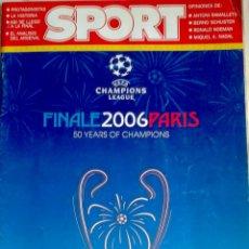 Coleccionismo deportivo: LIBRO FINAL CHAMPIONS 2006 DE PARIS- BARÇA--ARSENAL--DEL SPORT -. Lote 40147339