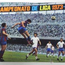 Coleccionismo deportivo: ALBUM CAMPEONATO DE LIGA 1973 - 74 COMPLETO CON TODOS SUS CROMOS, PEGADOS POR LA PARTE SUPERIOR, DIS. Lote 38282298