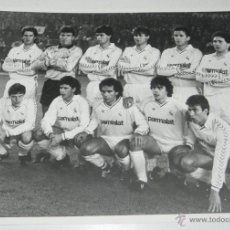 Coleccionismo deportivo: FOTOGRAFIA DEL REAL MADRID C.F., HUGO SANCHEZ, BUTRAGUEÑO, MICHEL, BUYO, CHENDO, MARTIN VAZQUEZ, ENT. Lote 194256488