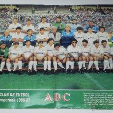 Coleccionismo deportivo: ANTIGUO CARTEL DEL REAL MADRID CLUB DE FUTBOL 1986 - 87, MIDE 54 X 42 CMS.. Lote 38287007