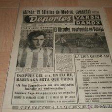 Coleccionismo deportivo: PERIODICO DEPORTES AT. MADRID CAMPEÓN DE LIGA TEMPORADA 65-66. Lote 40295547