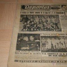 Coleccionismo deportivo: PERIODICO DEPORTES AT. MADRID CAMPEÓN COPA 1961. Lote 40295628
