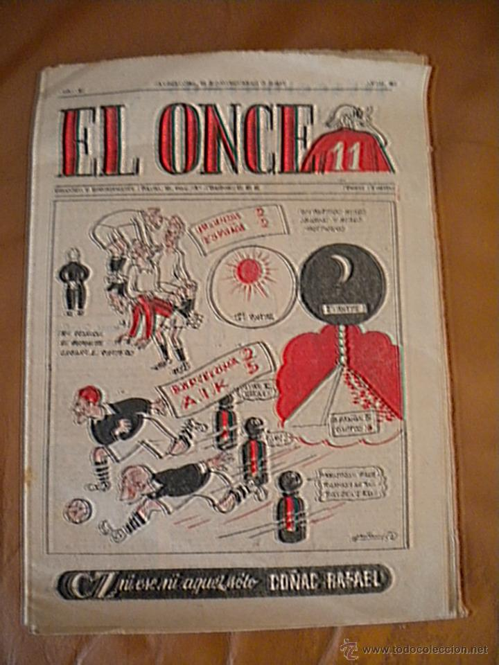 REVISTA EL ONCE Nº 568, 28-11-1955 CLUB DE FUTBOL, BARCELONA. (Coleccionismo Deportivo - Revistas y Periódicos - otros Fútbol)