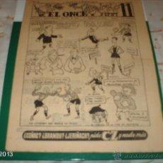 Coleccionismo deportivo: REVISTA EL ONCE. AÑO VII NÚMERO 314. BARCELONA 23 DE ENERO DE 1951. BARCELONA- REAL MURCIA (2-1). Lote 40352540