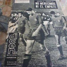 Coleccionismo deportivo: REV.DEPORT.(1-1963)-AMISTOSO CAMP NOU, ESPAÑA 0 FRANCIA 0-FOTOS. Lote 40569471