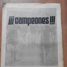 Coleccionismo deportivo: EL MUNDO DEPORTIVO. AÑO LXXIII. NÚMERO 16.965. JUEVES, 20 DE ABRIL DE 1978. ¡¡¡CAMPEONES!!! - DIVER. Lote 39648770