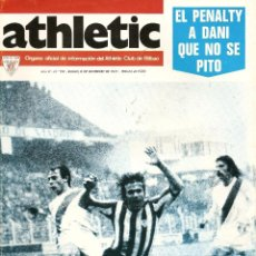 Coleccionismo deportivo: REVISTA ATHLETIC Nº 132, ÓRGANO OFICIAL DEL ATHLETIC CLUB BILBAO, DE 1977, FRENTE AL RAYO VALLECANO. Lote 40740381