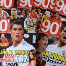 Coleccionismo deportivo: COLECCION COMPLETA LOTE 11 REVISTA 90' Nº 1-2-3-4-5-6-7-8-9-10-11 REVISTAS NOVENTA MINUTOS 2010-2011. Lote 40743414