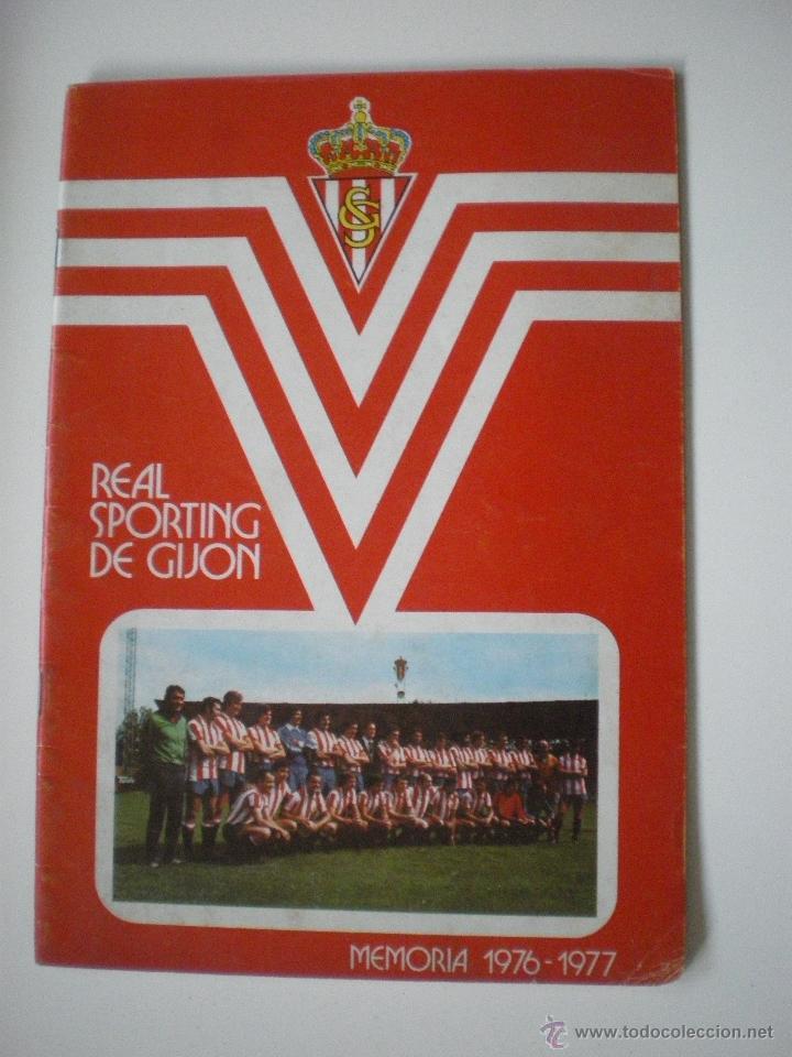 REAL SPORTING DE GIJÓN - MEMORIA TEMPORADA 1976/1977 (Coleccionismo Deportivo - Revistas y Periódicos - otros Fútbol)