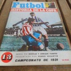 Coleccionismo deportivo: FUTBOL LA HISTORIA DE LA COPA NICOLAS Y ENRIQUE FUENTES FASCICULO Nº 13 DI STEFANO. Lote 40989786