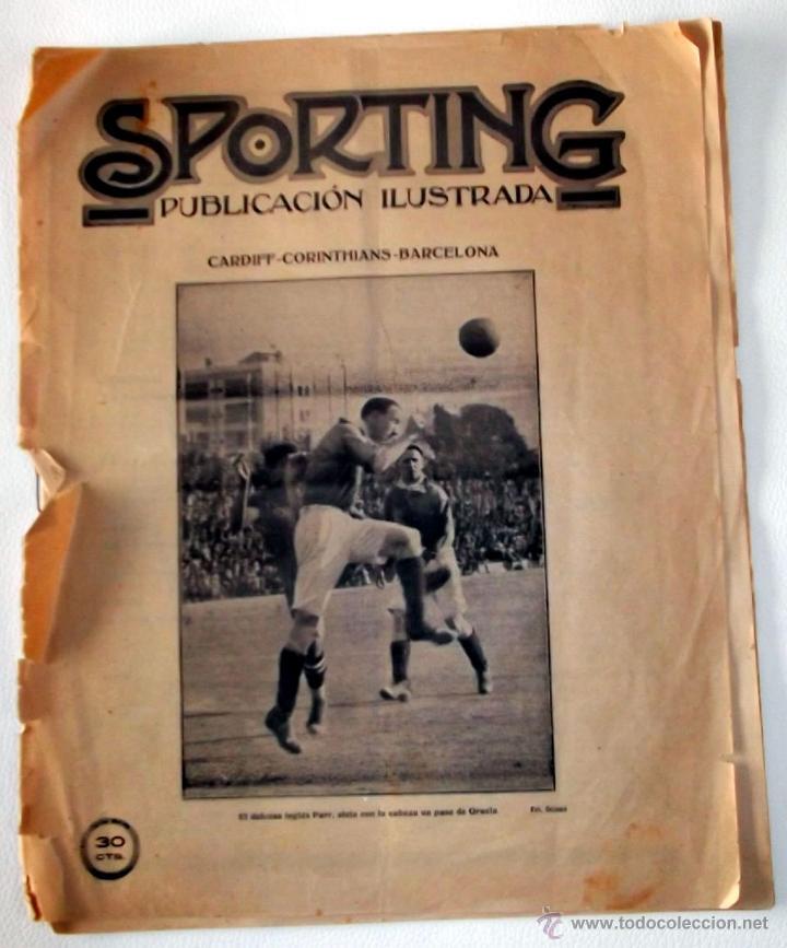 REVISTA SPORTING 10 MAYO 1921 F.C. BARCELONA BARÇA (Coleccionismo Deportivo - Revistas y Periódicos - otros Fútbol)