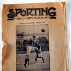 Coleccionismo deportivo: REVISTA SPORTING 10 MAYO 1921 F.C. BARCELONA BARÇA. Lote 40999639