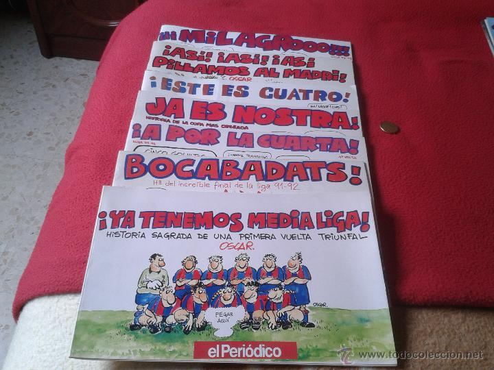 LOTE DE 7 REVISTAS COMICS COMIC TIRAS COMICAS FUTBOL EL PERIODICO DE CATALUÑA AÑOS 90 CLUB BARCELONA (Coleccionismo Deportivo - Revistas y Periódicos - otros Fútbol)