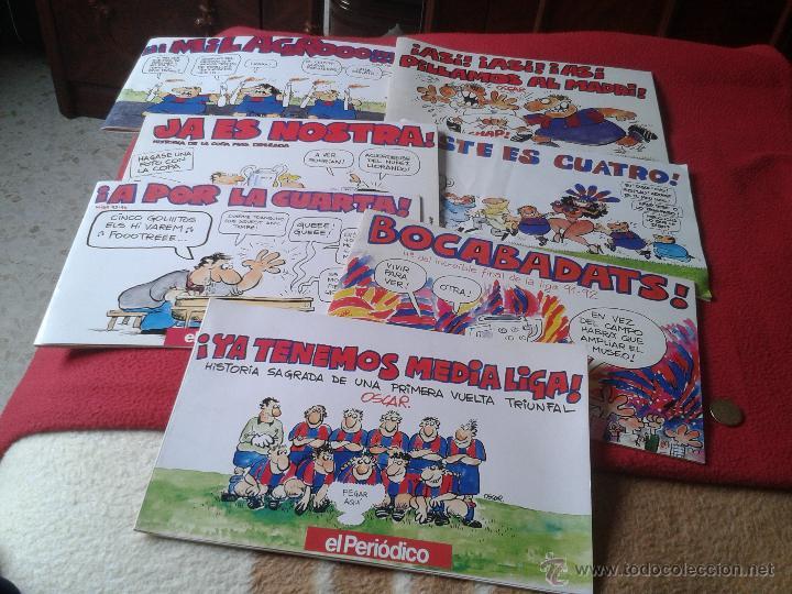 Coleccionismo deportivo: LOTE DE 7 REVISTAS COMICS COMIC TIRAS COMICAS FUTBOL EL PERIODICO DE CATALUÑA AÑOS 90 CLUB BARCELONA - Foto 2 - 41351923