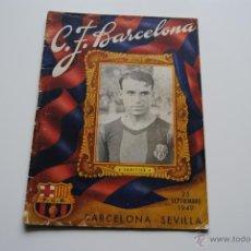 Coleccionismo deportivo: BOLETIN OFICIAL C.F.BARCELONA 1949 SAMITIER. Lote 41999444